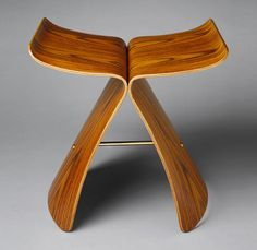 Although Sori Yanagi's stool was designed and manufactured in Japan, it employs western forms (the stool) and the material (bent plywood). Its calligraphic elegance, however, suggests a distinctly Asian sensibility