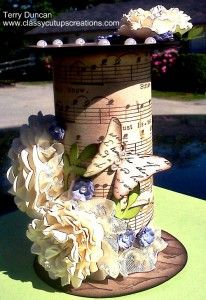 I got this idea here on Pinterest and just had to make my own with Stampin' Up! products! Altered Art -Toilet Paper Roll
