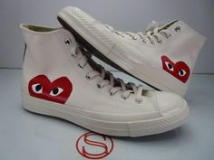 cbd6cc366 Comme Des Garcons CDG Play x Converse Heart High Top Sneakers All ...