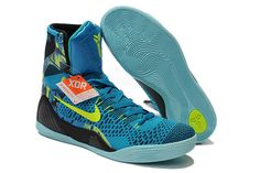 """NBA Lakers Kobe 9 Elite Neon Turquoise/Volt Mens High Sports Footwear Bryant """"Perspective"""" Shoes"""