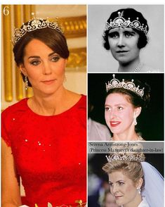 The Duchess of Cambridge's jewellery loaned from The Queen: Nizam of Hyderabad Cartier necklace, a wedding gift to Princess Elizabeth… Royal Crown Jewels, Royal Jewelry, Princess Elizabeth, Princess Kate, Princess Margaret, Kate Middleton Wedding, Kate Middleton Style, Royal Tiaras, Tiaras And Crowns
