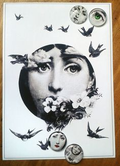 Superb A4 Magnetic Fornasetti Style Card/ Poster/ Print + 4 Magnets | eBay Piero Fornasetti, A4, Magnets, Poster Prints, Cards, Ideas, Style, Swag, Map