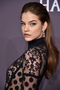 Who: Barbara PalvinWhat: New Cat-EyeHow: At last night's amfAR Gala in New York City, model Barbara Palvin showed-off a unique take onclassic cat-eye liner. From far away, her eye makeup looked pretty traditional—like nothing  more than a swipe of liner. But up close it becameevident that makeup artist Nina Park combined both eyeliner and shadow to create a multi-dimensional look. To try this at home, start by lining your top lashline with an inky black liquid liner. Wing it out just
