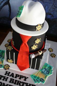 Sandys Cakes Doms Gangster 40th Birthday Cake cakepins.com