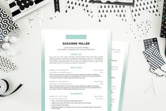 Check out Ombre Simple 2 Pg. Resume Template by JannaLynnCreative on Creative Market