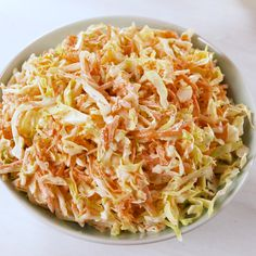 Never need a coleslaw recipe again. Slaw Recipes, Diet Recipes, Cooking Recipes, Healthy Recipes, Easy Cooking, Tasty Videos, Food Videos, Homemade Coleslaw, Easy Coleslaw Recipe