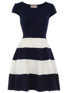 Navy Skater Dress / Dorothy Perkins  Adorable!!!!!!!!