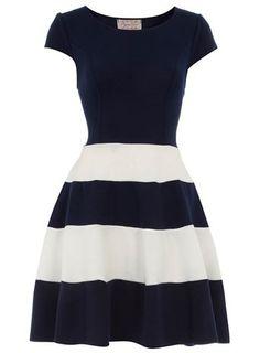 Navy Skater Dress / Dorothy Perkins  Adorable!!!!!!!!