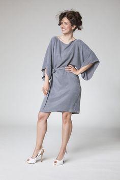 """+Kleid """"Kimono""""+  Länge: kurz Verarbeitung: einlagig, ungefüttert  inkl. Bindegürtel  Farbe, Größe und Material nach Wunsch Farben bitte an..."""