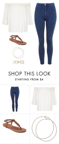 """Untitled #2630"" by twerkinonmaz ❤ liked on Polyvore featuring Topshop, River Island, Apt. 9, Wet Seal and Accessorize"