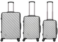 Packenger Vertical Business Koffer 3er-Set Silber Metallic