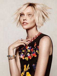Sasha Pivovarova by Jason Kibbler for Vogue Korea December 2014