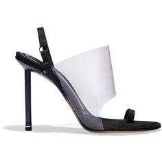 Alexander Wang Sandal ($595) ❤ liked on Polyvore featuring shoes, sandals, black, alexander wang, black shoes, alexander wang shoes, black sandals and kohl shoes