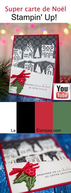 Carte de Noël avec le lot Ensemble à Noël Stampin' Up! et la big shot