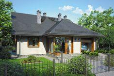 Wizualizacja Mój Dom Rzeżucha CE Decoration, Gazebo, House Plans, Villa, Outdoor Structures, Cabin, House Styles, Places, Outdoor Decor
