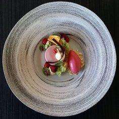 Raspberry, White Chocolate and Basil @gayaceramic #pastry #patisserie #pastrychef #dessert #dessertmasters