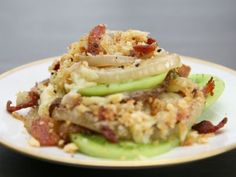 Green Tomato and Vidalia Onion Gratin (Food Network - Claire Robinson, 5 Ingredients)