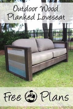 DIY Sofas and Couches - DIY Wood Plank Love Seat - Easy and Creative Furniture and Home Decor Ideas - Make Your Own Sofa or Couch on A Budget - Makeover Your Current Couch With Slipcovers, Painting and More. Step by Step Tutorials and Instructions http://diyjoy.com/diy-sofas-couches