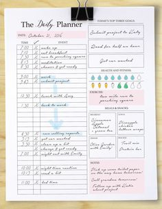Get TONS accomplished this year with this printable organizer! This planner has been designed to help you achieve big goals. ═════════ WHATS INCLUDED? ═════════ → Daily Planner PDF (1 Page) in sizes A4, A5, and LETTER.  » All planners come with 1.5 cm margins for hole-punching / binding   ═════════ ANY QUESTIONS? ═════════ Please do not hesitate to shoot me a message! I am very quick to respond and I am always open to questions, comments and suggestions.  Lets keep in touch ❤ Follow us o...