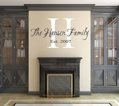 Custom Wall Decals - Family Name Wall Decal - Initial Year Established - Removable Wall Decals - Wall Art Decals on Etsy, $35.00