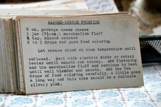 A classic vintage recipe from the files - Almond Cheese Frosting