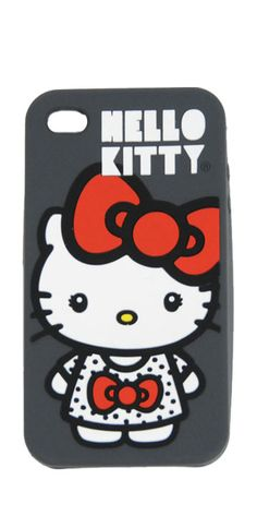 Loungelfy Hello Kitty Big Bow iPhone 4 Silicone Case