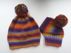 Set of hats with pom-pom for mom and dachshund, set of knitted hats with pom-pom for hostess and dog | dachshundknit Pom Pom Hat, Hats For Women, Dachshund, Knitted Hats, Winter Hats, Mom, Knitting, Fashion, Moda