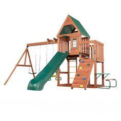 Willow's Peak Residential Wood Playset with Swings    Needreviews