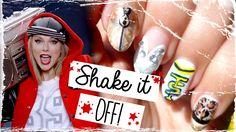 Taylor Swift - Shake it Off! Funky Nail Art, Funky Nails, Nice Nails, Us Nails, Swag Nails, Taylor Swift Nails, Art Watch, Shake It Off, Nail Tutorials