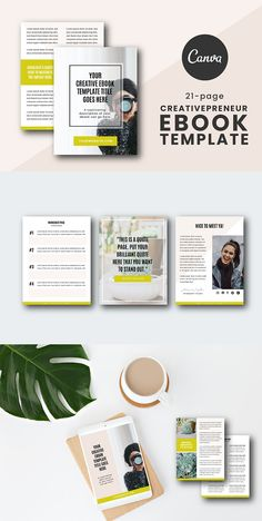 Looking to create a beautiful eBook but design is holding you back? Use this template to WOW your audience! This template has everything you need to create an intentional and expertly designed eBook. Goodbye Note, Page Table, Table Of Contents Page, Full Quote, Content Page, Self Publishing, Cover Pages, Brochure Template, Worksheets