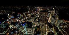 Showcase Sydney at Night Aerial Panorama   Sydney Australia