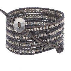 Bronze Shade Mix Wrap Bracelet - Chan Luu