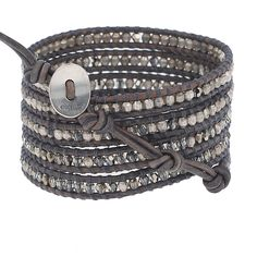 Bronze Shade Mix Wrap Bracelet - Chan Luu