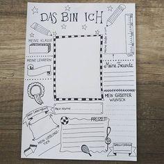 """D a s b i n I c h . Mich freut die positive Resonanz auf das Arbeitsblatt #klassenfahrt. Deswegen gibt es hier ein weiteres, diesmal als Steckbrief für die Erstklässler . Inspiriert wurde ich von Christina ruemann, die das tolle Arbeitsblatt """"Grundschule aus"""" entworfen hat. #grundschulideen #grundschullehramt #grundschulalltag #ersterschultag #ersteklasse #lehramt #referendariat #grundschullehrerin #steckbrief #diy"""