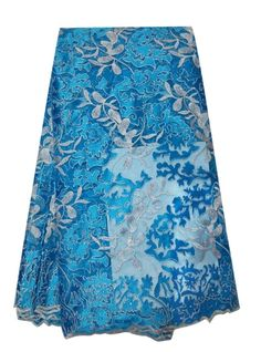 African Net Lace Floral Embroidered Nigerian French Lace XD029-1  https://www.lacekingdom.com/