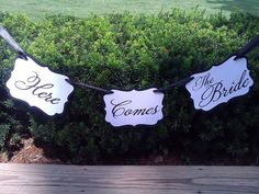 Here Comes The Bride Banner  In Your Custom by ThePinkLantern, $21.00