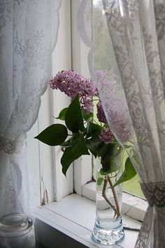 lilacs on the sill as a sign that warmth has officially returned :)