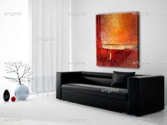 """Cuadro moderno abstracto """"Silencio""""- colores vivos, un cuadro que diece más que mil palabras."""
