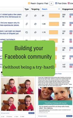 You can build a Facebook community without annoying the very people you're trying to attract - here's how I do it. Try Harder, Infographic, Community, Social Media, Posts, Facebook, Building, Tips, People