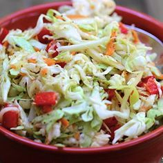 Better than Mayo filled cole slaw! This recipe will become your summer side favorite.