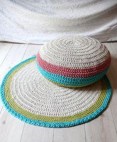 Floor Cushion Crochet by lacasadecoto on Etsy, €39.00