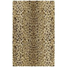 Hand-tufted Lawrence Cheetah Gold Wool Rug (8' x 11')