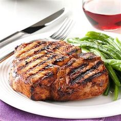 Zesty Grilled Chops Recipe -These pork chops make a quick company dish. Our family enjoys them on the grill, as the summer weather in our part of the country is hot and muggy. In the wintertime, they're wonderful prepared in the broiler. —Blanche Babinski, Minto, North Dakota
