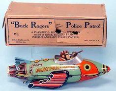 Bilderesultat for Marx 1939 Buck Rogers Rocket Police Patrol Vehicle