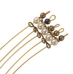 Wire as spacer for multi-strand designs. I can't believe I never thought of this!