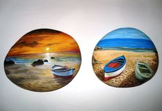 painted stones landscapes by Lefteris Kanetis