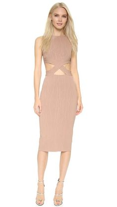 Jonathan Simkhai Wrap Spill Intarsia Dress