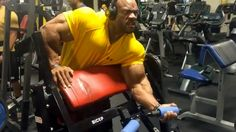Countdown to the 2016 Olympia: Phil Heath   PHIL HEATH: ARMS, 2.5 WEEKS OUT          Had a great back session tonight at @armbrustprogym that I had to throw in some biceps since I haven't given them love lately. I always enjoy this preacher curl machine as it isolates my muscle in that perfect spot. I never wear yellow but since I'm a big Luke Cage fan I figured why not try to look like PowerMan lol. Shout out to @fatgripz and also @muzikconnect @unutrition for keeping me