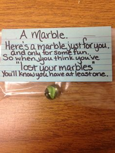 Lost your marbles. Silly Gifts, Joke Gifts, Funny Gifts, Gag Gifts Christmas, Christmas Stocking Stuffers, Birthday Gag Gifts, Employee Appreciation Gifts, Gifts For Coworkers, White Elephant Gifts