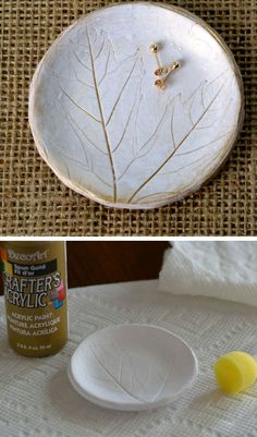 Fall Leaf Polymer Clay Dish For Jewelry | 35 DIY Fall Decorating Ideas for the Home | Fall Craft Ideas for Adults